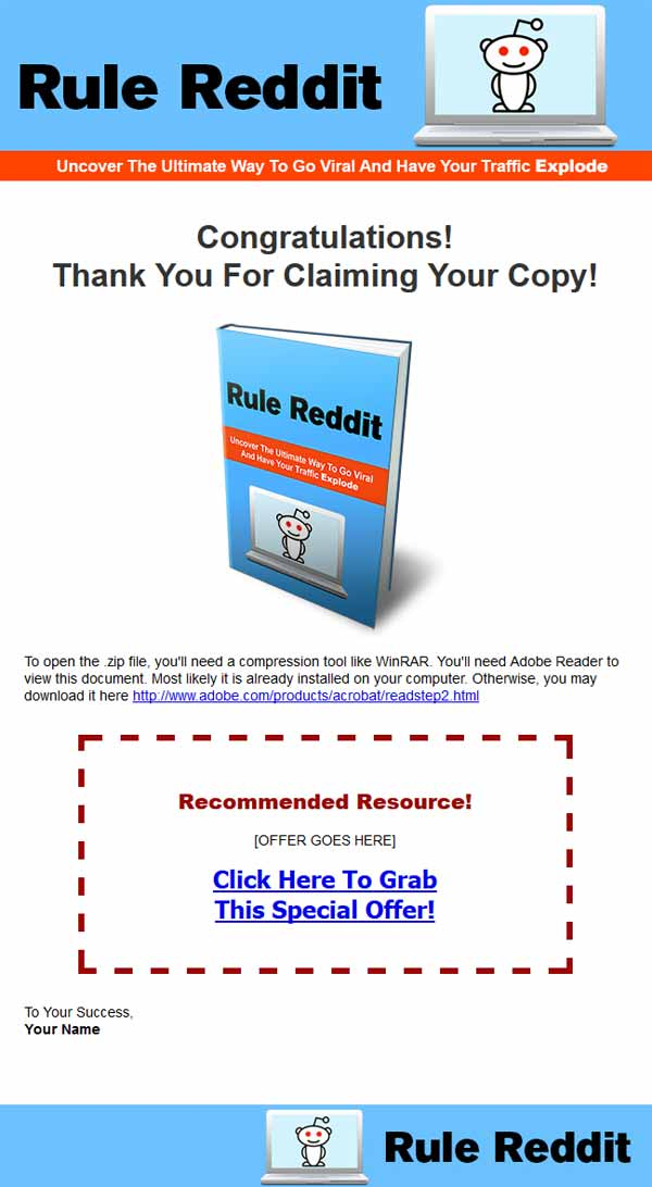 Rule Reddit Ebook with Master Resale Rights