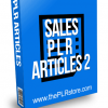 Sales PLR Articles 2 with Private Label Rights