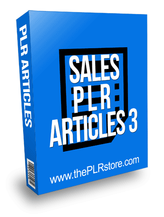 Sales PLR Articles 3 with private label rights