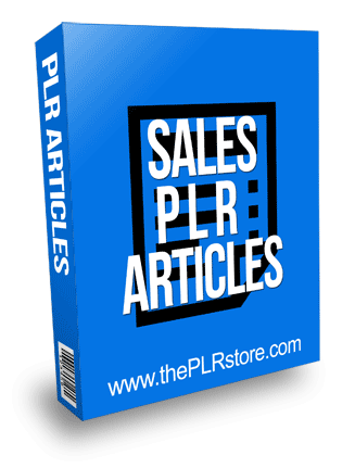 Sales PLR Articles with Private Label Rights