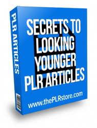 secrets to looking younger plr articles secrets to looking younger plr articles Secrets to Looking Younger PLR Articles secrets to looking younger plrarticles 190x250