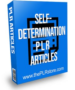 Self-Determination PLR Articles