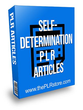 Self-Determination PLR Articles