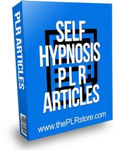 Self-Hypnosis PLR Articles