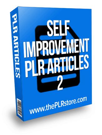 self improvement plr articles 2