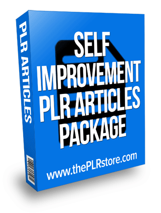 self improvement plr articles package