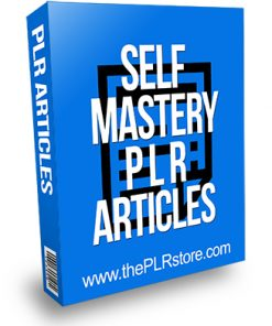 Self Mastery PLR Articles