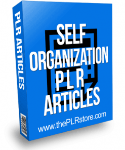 Self Organization PLR Articles