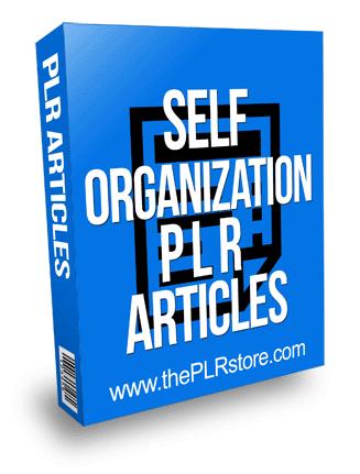 Self Organization PLR Articles