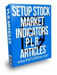 Setup Stock Trading Technical Indicators PLR Articles