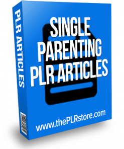 single parenting plr articles