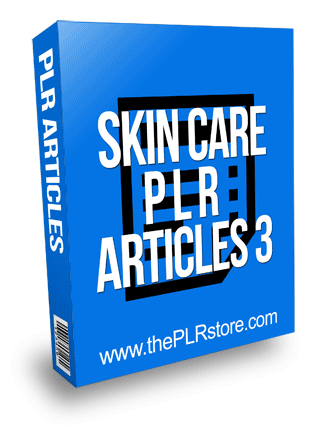 Skin Care PLR Articles 3