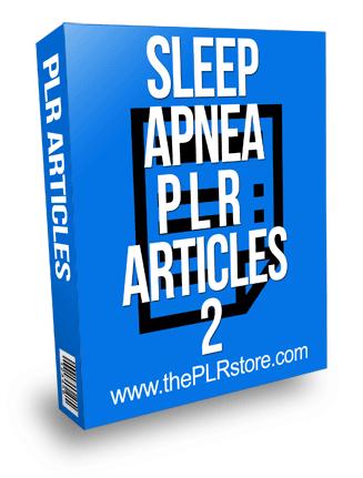 Sleep Apnea PLR Articles 2