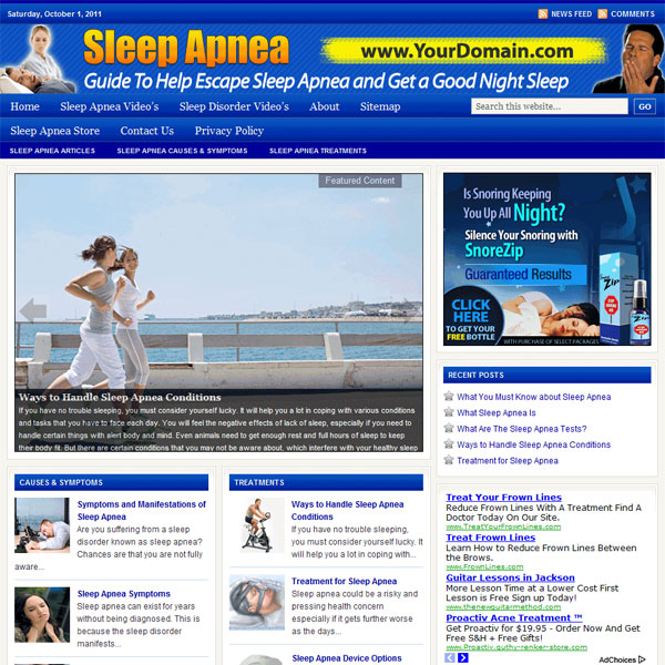 Sleep Apnea Plr Website Adsense And Clickbank Private Label Rights
