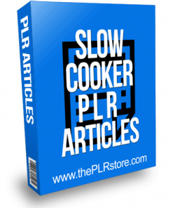 Slow Cooker PLR Articles