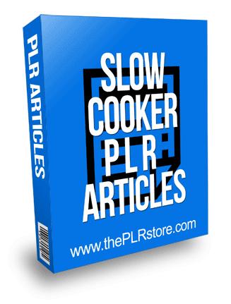 Slow Cooker PLR Articles