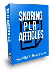 Snoring PLR Articles