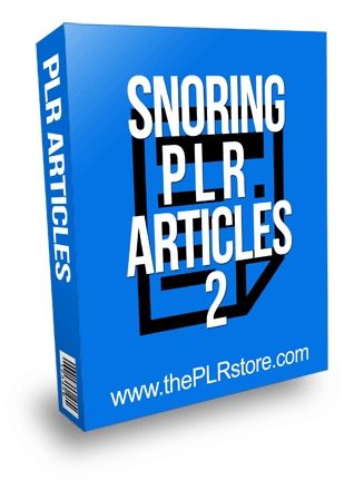 Snoring PLR Articles 2