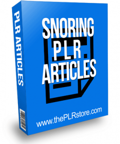 Snoring PLR Articles