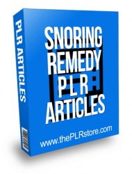 Snoring Remedy PLR Articles