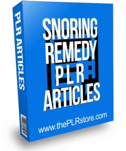 Snoring Remedy PLR Articles
