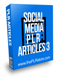 Social Media PLR Articles 3