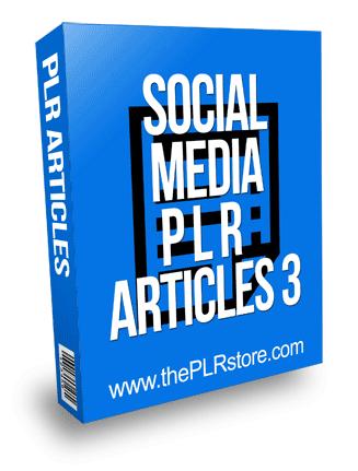 Social Media PLR Articles 3