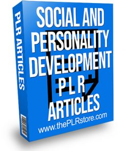 Social and Personality Development PLR Articles