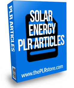 solar energy plr articles