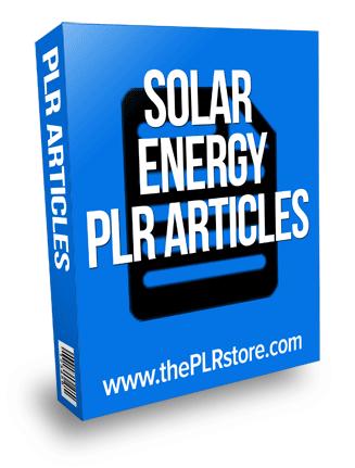 solar energy plr articles