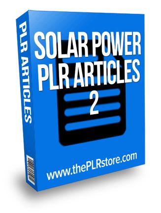 solar power plr articles