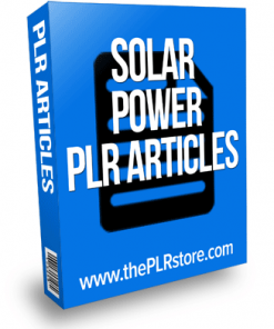 solar power plr articles