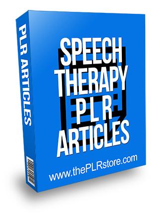 Speech Therapy PLR Articles