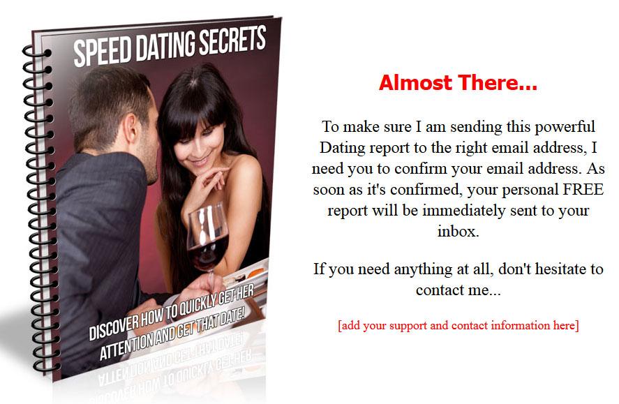 Super speed dating secrets plr