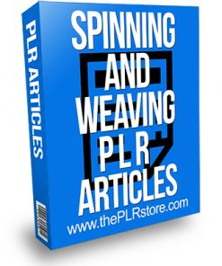 Spinning and Weaving PLR Articles