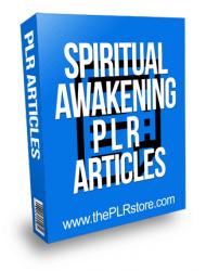 Spiritual Awakening PLR Articles