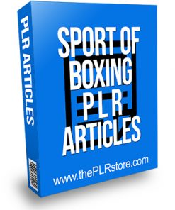 Sport of Boxing PLR Articles