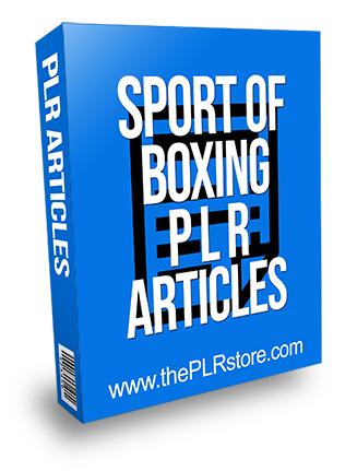 Sport of Boxing PLR Articles