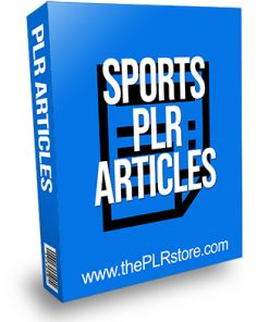 Sports PLR Articles