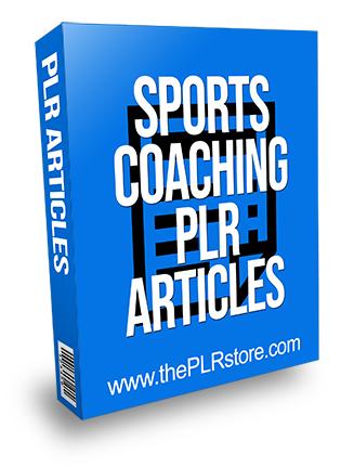 Sports Coaching PLR Articles