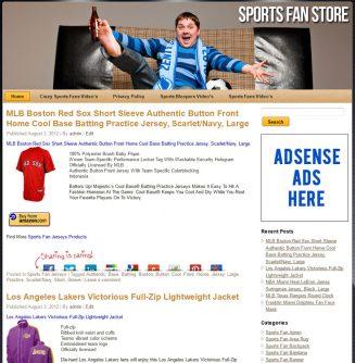 Sports Fan PLR Amazon Store Website sports fan plr amazon store website main 327x334