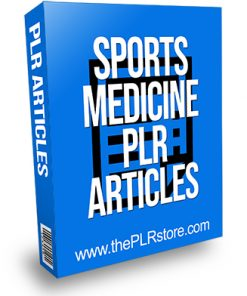 Sports Medicine PLR Articles