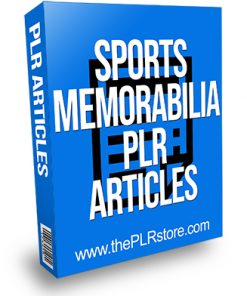 Sports Memorabilia PLR Articles