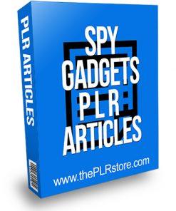 Spy Gadgets PLR Articles