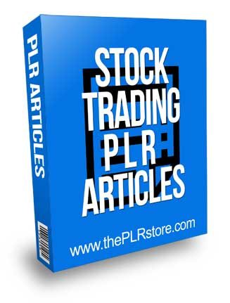 Stock Trading PLR Articles
