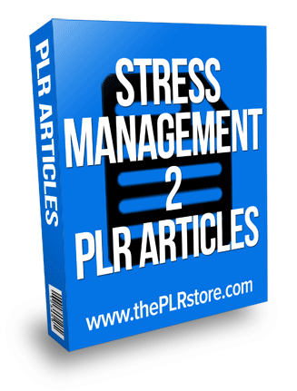 stress management plr articles