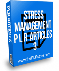 Stress Management PLR Articles 3