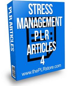 Stress Management PLR Articles 4