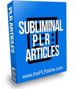 Subliminal PLR Articles