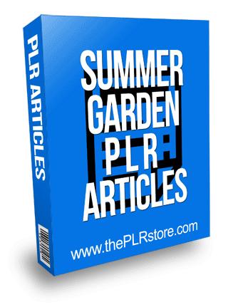 Summer Garden PLR Articles